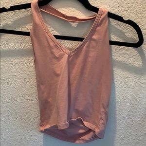 Pink halted top